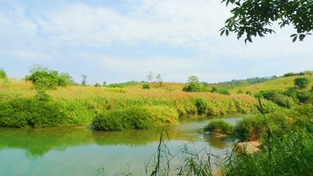 sunup: Landscape of river