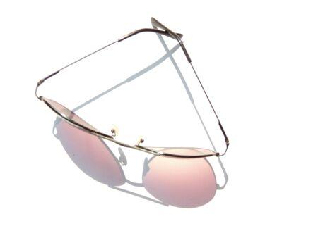 opthalmology: Eyeglasses on white background