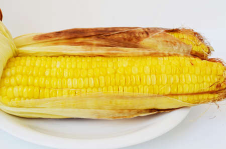 cob: Grilled  corn on the cob Stock Photo