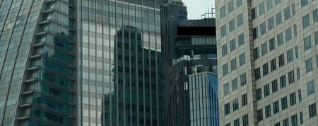 financial district: Futuristic financial district
