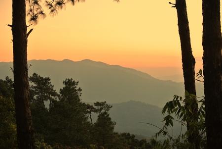 natual: landscape of sunset mountain
