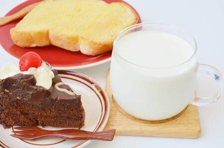 gateau chocolat: Milk and  chocolate cake