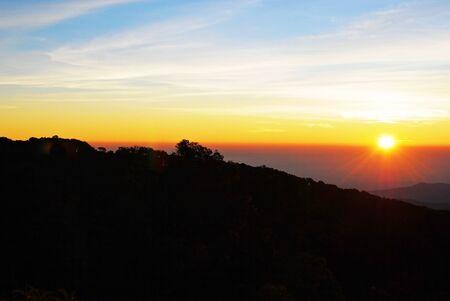 multi national: Lanscape of sunset background Stock Photo