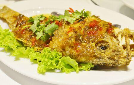 chili sauce: Fried fish and chili sauce