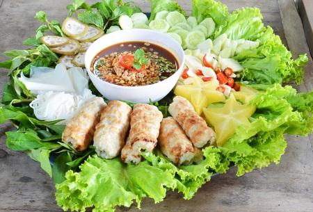 alliaceae: Nam-Neaung Thai food Stock Photo