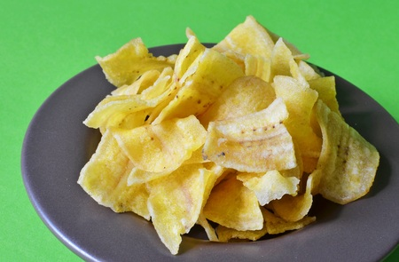 crisps: Sweet banana crisps Stock Photo