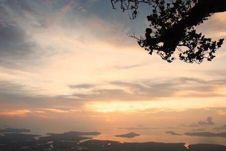 national park: Sunset  at national park Stock Photo