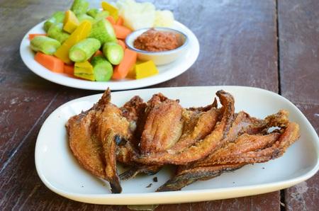 Deep Fried Dried Fish- Stock Photo