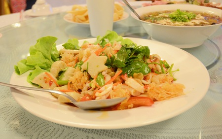 spicy: Spicy seafood salad