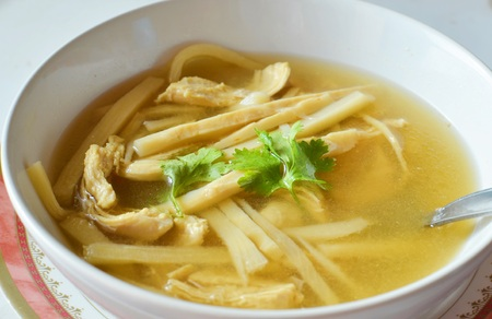 soup bowl: Bamboo Shoot boiled with pork
