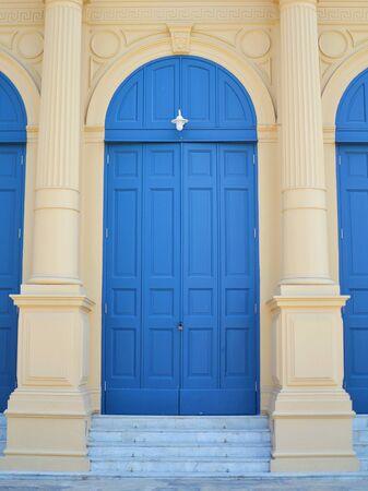 blue door: Classic blue door vintage