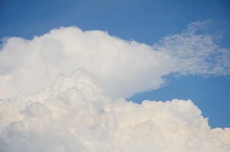 blue background: Blue sky background Stock Photo