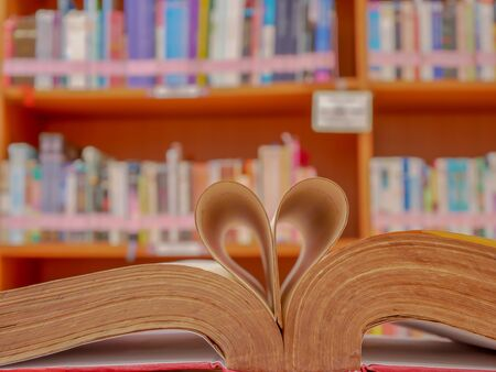 The picture of this book is bent into a heart shape.