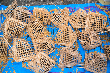 Bird Cages: Made of Bamboo: Thais are buying birds for freedom.