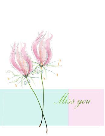 lily flowers: flores de lis de la acuarela