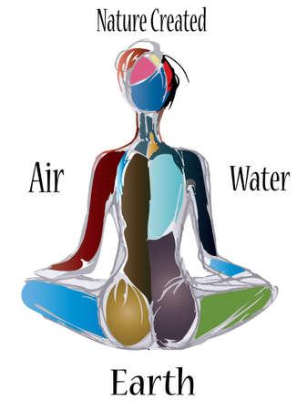 woman meditation: woman meditation