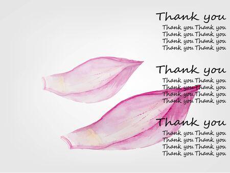 corolla: Lotus corolla .Hand drawn watercolor painting .Meditation Concept.Vector illustration Illustration