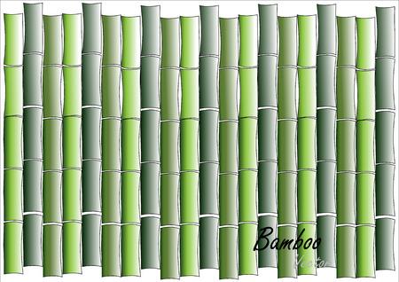bambu: pared de bambú, la pared de bambú verde o de fondo en blanco, ilustración vectorial Vectores