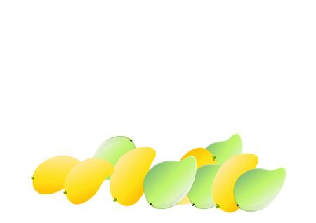 mango: Mango tle ilustracji wektorowych