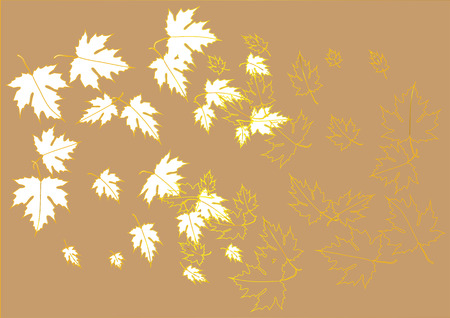 Maple leaves paper cut background vector illustration