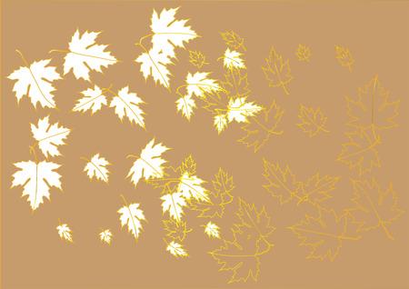 leaf pattern: Maple leaves paper cut background vector illustration