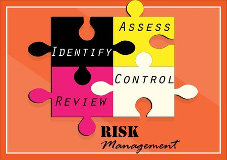 risk: Risk management  jigsaw design ,Vector illustration