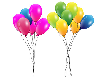 Balloons,Group of colorful balloons on white background,Vector illustration