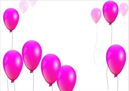 pink balloons: Balloons,pink balloons on white background,vector illustration Illustration