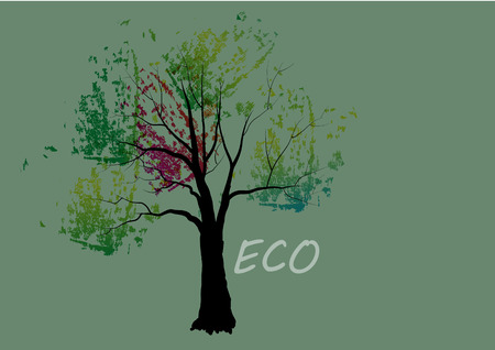 colorful tree: Tree, colorful tree ECO concept,Vector illustration