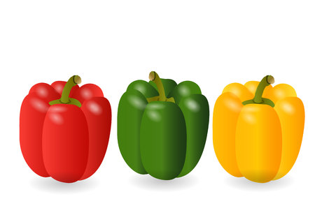 rosso verde: sweet peppers 3 color yellow,red,green