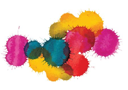 color drop: Color drop watercolor brush design ,vector illustration Illustration