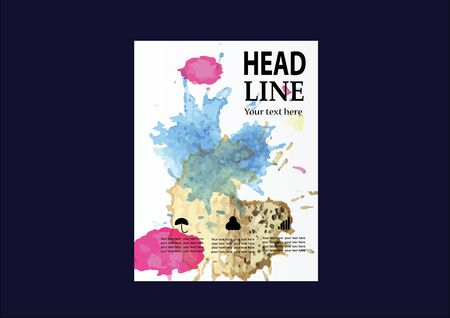 dea: Vector Brochure Flyer design Layout template, size A4