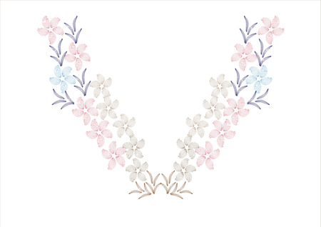 embroidery flower: flower design for collar shirts, shirts, blouses,neck line embroidery graphic designs