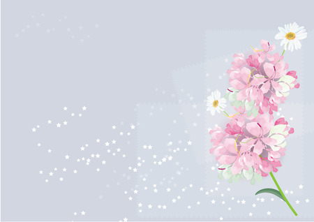 pink flowers bouquet  card design  for background