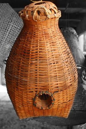 vintagel: Bamboo basketry  thai handicraft Fishing