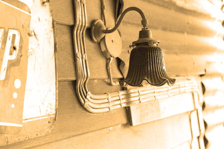 wall lamp on vintage style photo