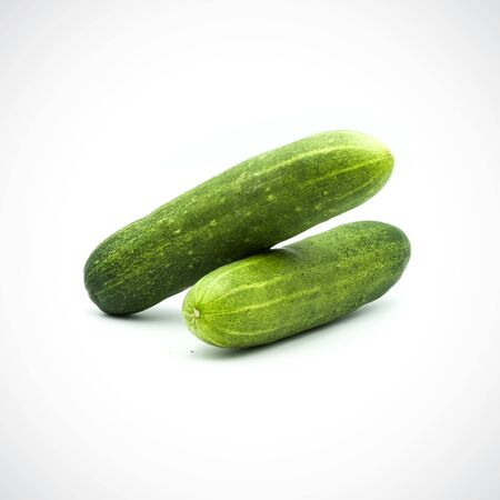 Two cucumbers on a white background Banque d'images