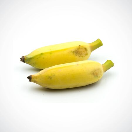 Cultivated banana two isolated on the white background.