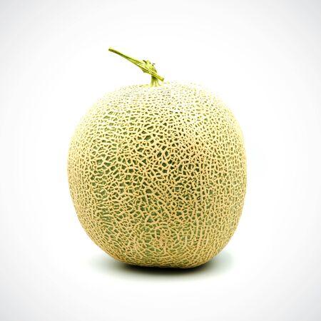 Cantaloupe Melon,with Orange flesh on the White Blackground.