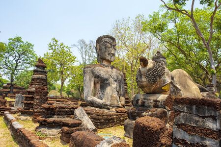 Buddha statue made Made from cement, Thailand