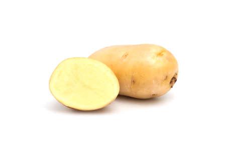 fresh potato isolated on white background. Foto de archivo