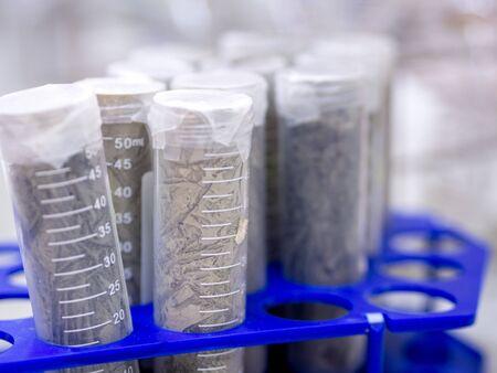 Soil sampling tube in laboratory 写真素材