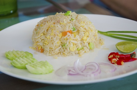 Fried rice with salted fish  photo