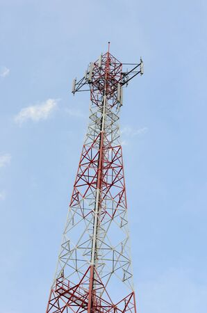 Red and White Telecommunication tower  photo