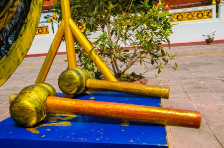 clang: The hammer of Thai gong Stock Photo