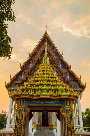 Detail of traditional Thai architecture photo