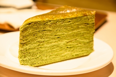mille: Matcha mille crepe Stock Photo