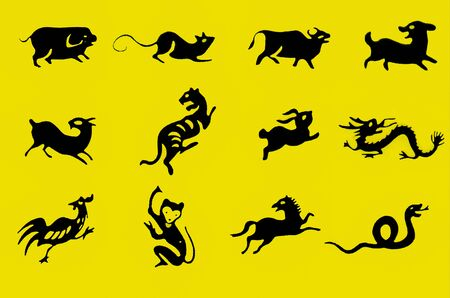 Zodiac with yellow background photo