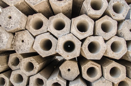 cement pole: Cement pole Stock Photo