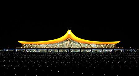 aerodrome: Changshui  aerodrome at night panorama
